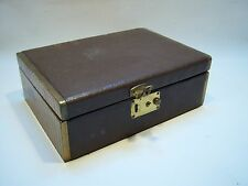 Vintage Collectible Antique Leather Jewelry Trinket Box