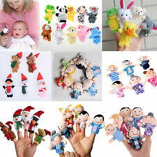 Family Finger Puppets Plush Cloth Doll Baby Kids Hand Toys Nursery Fairy Tales