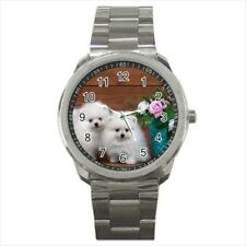 Cute Pomeranians Stainless Steel Watches - Puppy Dog