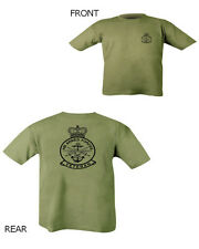 HM Armed Forces Veteran T Shirt Green Double Print military British Army