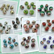 Wholesale 12pcs Chinese Handmade Cloisonne Enamel Filigree Round Beads DIY Gift