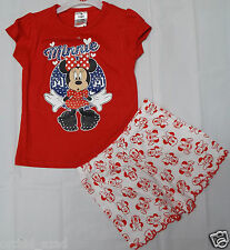 Girls Disney Minnie Mouse T Shirt Top Short Outfit Clothes 4-5y 5-6y  7-8 Years