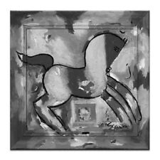 NEW Anthony Syndicas Horse 2 Framed Canvas Print in Black  /  White