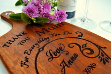 Personalised Mothers Day Gift Cutting Board Engraved Present Mum Personalized