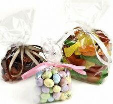 Crystal Clear Gusseted Cellophane Cello Poly Bags Candy Cookie Bakery Multi Size