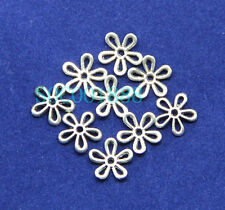 50/1000Pcs Tibetan silver Hollow Flower Loose Bead Caps Findings 11.6mm