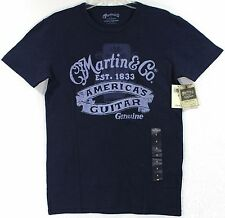NWT Lucky Brand C.F. Martin & Co. America's Guitar Genuine Navy Blue T-Shirt