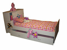 Single Bed with innovative sliding door storage in bed head & trundle option