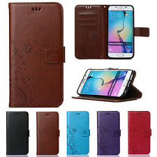 Luxury Patterned Leather Flip Stand Wallet Case Cover For Samsung Galaxy S5 Neo