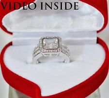 Unique 3.8 Carat Assher Cut Engagement Ring Fine Jewellery Rings Made in Italy