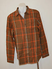 PRANA Mens Long Sleeve Winter Shirts -     BROWN CHECK - SIZE - LARGE - NEW
