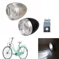 Retro Bicycle Bike Accessory Front Light Bracket Vintage 3LED Headlight Lamp NEW