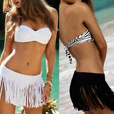 Fringe Skirt  Beach Summer Tassel Wrap Sarong Bikini Cover Up Dress Swimwear