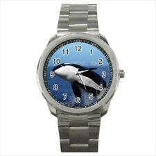 Killer Whale Orca Black Fish Stainless Steel Watch