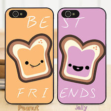 EC Cute Best Friends Peanut And Jelly Girl Boy Hard Mobile Case Cover for iPhone