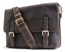 Visconti 16117 Distressed Leather Messenger Bag Briefcase Cross-body Laptop Case