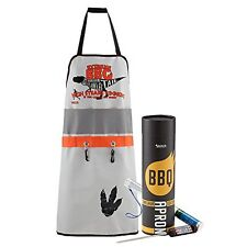 BBQ Mens Grilling Apron with Digital Meat Thermometer Cooking Barbecue Utensils