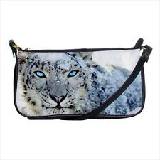 Snow Leopard Mini Coin Purse & Shoulder Clutch Handbag