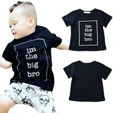 Boys Kids Toddlers Baby T-shirt Tops Short Sleeve Pullover Shirt Casual A6O6