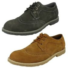 Mens Maverick Leather Nubuck Casual Lace Up Shoes The Style-A2111