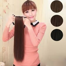 Women  Long Lady Girl Straight Ponytail Wigs Hair Hairpiece Extension