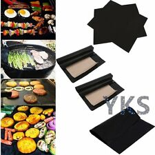 2Pcs Reusable Non-stick BBQ Grill Mat Barbecue Baking Liner Cooking Sheet SL