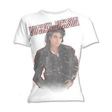 MICHAEL JACKSON BAD SELF OFFICIAL LADIES FITTED SLIMFIT BABYDOLL T-SHIRT