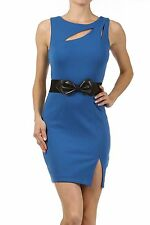 Blue Fitted Low Back Women's Mini Dress S M L