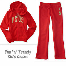NWT PS Aeropostale Kids Girls Size 7 8 Zip-Front Hoodie & Sweatpants 2-PC SET