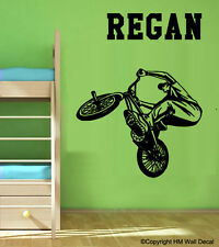 NEW Personalised BMX Stunt Removable Wall Sticker