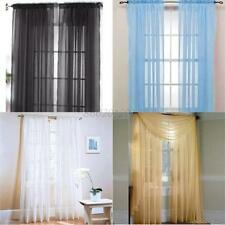 1 PCS Sheer Sheet Voile Window Curtains Drape Panel or Scarf Assorted 19 Colors