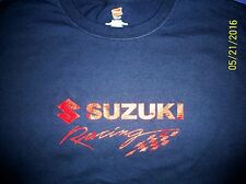 Suzuki Racing Screen Printed Long SleeveT-Shirt 6 oz.100% Cotton Sm-5XL
