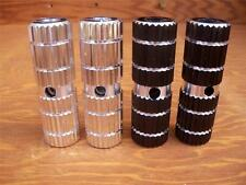 """*New Aluminum Alloy 3/8"""" Axle Foot Pegs BMX Bike Bicycle MTB Black and Chrome"""