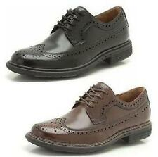 UN LIMIT- MENS UNSTRUCTURED BY CLARKS SMART FORMAL LACE UP LEATHER BROGUE SHOES