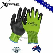 Safety Gloves Work Gloves General Purpose Hi Vis PPE 12 Pairs M, L, XL