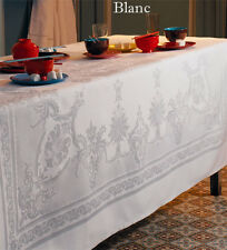GARNIER-THIEBAUT BEAUREGARD FRENCH JACQUARD COTTON SQUARE/RECTANGULAR TABLECLOTH