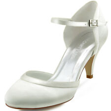 HC1509 High Heel Dress Pumps Closed Toe Ankle Strap Satin Buckle Wedding Shoes