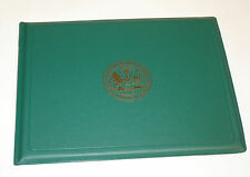 US Military Award Certificate Binder 8.5 x 11 Army Seal Green/Gold 614887101165