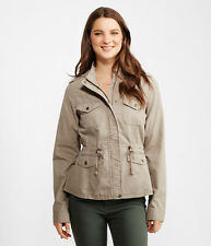 Aeropostale Jacket Womens Hooded Thick Cotton Anorak Jacket Coat L Tan NWT