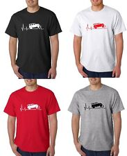 4 Door Jeep Wrangler  Heartbeat Tee 4 Different colors to choose  Free Shipping
