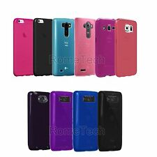 High Gloss Silicone Case Verizon OEM Cover Skin for Apple Samsung Droid LG Black