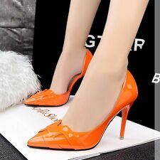 OL Elegant Womens Shoes Cut Out Stiletto Pointed Toe High Heels PU Classic Pumps