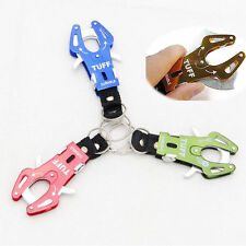 New Climb Hook Carabiner Clip Lock Keychain Ring Chain Multicolor Durable OH