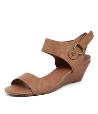 New I Love Billy Kanda Tan Embossed Women Shoes Casuals Sandals Wedges