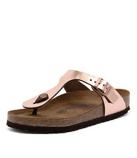 Birkenstock Gizeh Metallic Copper Women Shoes Casuals Sandals Flats