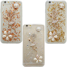 ROSE GOLD SILVER FLAKE LEAF FOR IPHONE 5/6/6+ DURABLE CASE DECO FAIRY #LCC092
