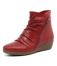 Gamins Rita Red Women Shoes Casuals Boots Wedges