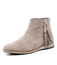 New Rollie Madison Fringe Bootie Granite Nubuck Women Shoes Boots Ankle Boots