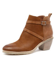 New Mollini Laster Tan Nubuck/Tan Leather Women Shoes Casuals Boots Ankle Boots