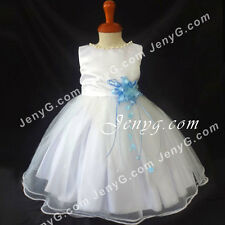 #NLSB8 Baby Flower Girl Wedding Graduation Holiday Birthday Party Dresses Gowns